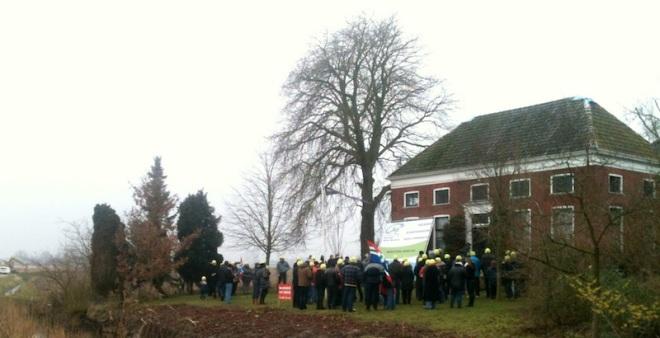 demonstratie bij Eenum