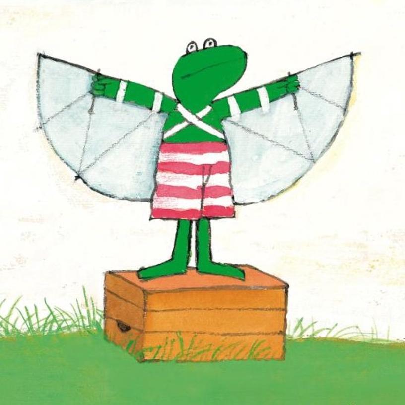 Een groene kikker